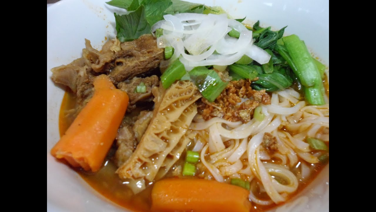 Beef Stew Noodles With Beef Tripe Recipe Part 1 Youtube