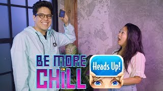 George Salazar vs. Stephanie Hsu in a Game of Be More Chill Heads Up!