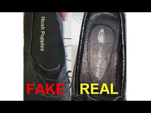 Real Vs Fake Hush Puppies Shoes. How To Spot Counterfeit Hush Puppies