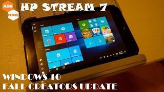 HP Stream 7 - Clean Install Windows 10 Fall Creators Update