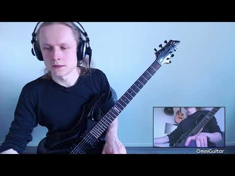 Live guitar playing (metal music)