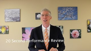 20 Second Performance Review  // Mark's Minute on Money//