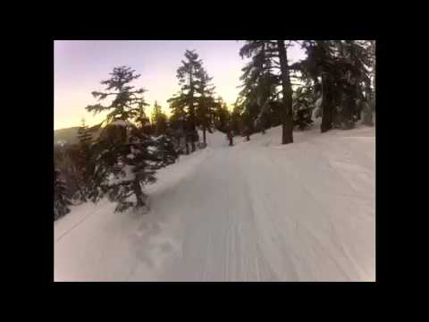 Bowl skiing mt. Ashland Oregon