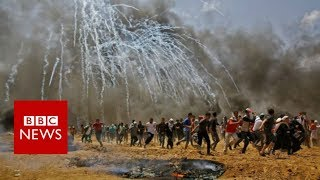 Gaza clashes:  At least 37 Palestinians have been killed - BBC News