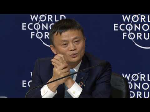 Davos 2017 - Press conference with Alibaba and the International Olympic Committee