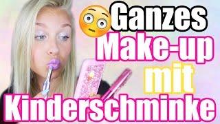 Ganzes Make-up NUR mit KINDERSCHMINKE 😳 Geht das ?! | Dagi Bee