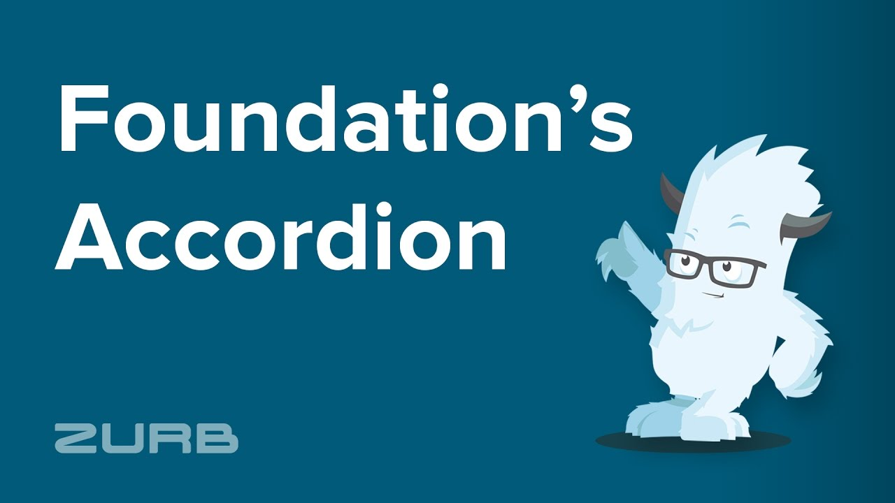 Accordion | Foundation for Sites 6 Docs