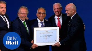 The USA, Canada and Mexico win the bid to host the 2026 World Cup - Daily Mail