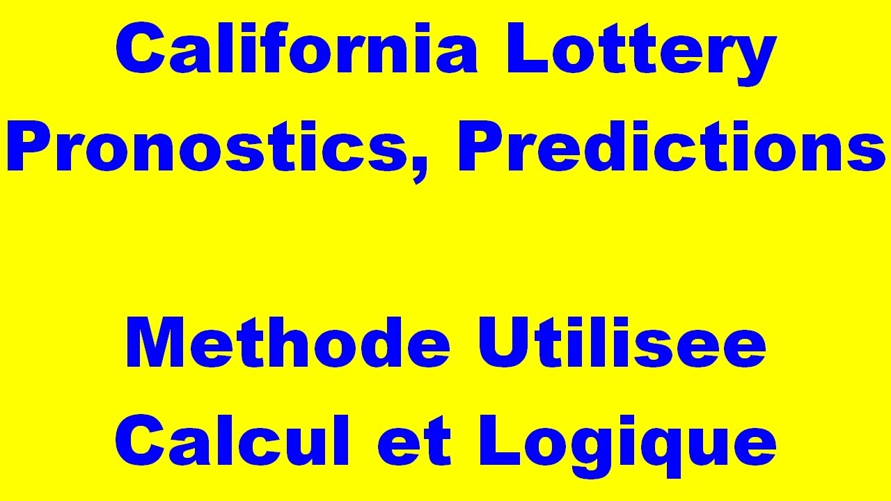 California Lottery - Numbers to Win - Daily 3 Midday 12 07