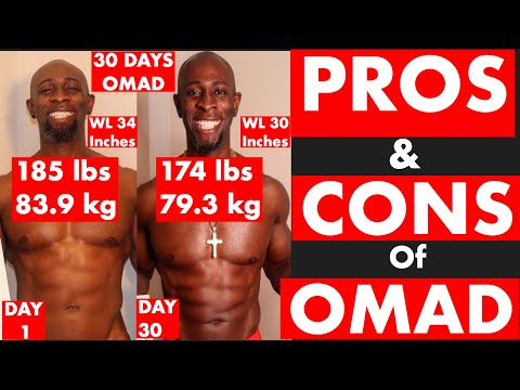 PROS AND CONS OF (OMAD) One Meal A Day. My 30 Day Weight Loss Experiment. (May 2020)