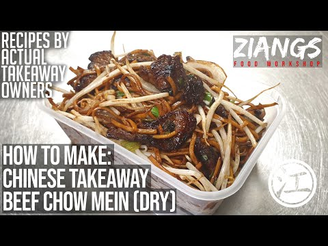 Ziangs: Beef Chow Mein (dry) Chinese Takeaway Cooking
