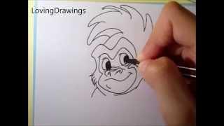 Drawing Terk(ina) from Tarzan