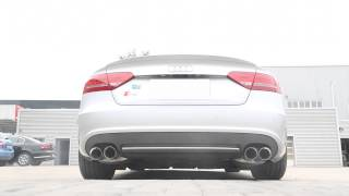 Audi S5 3.0 TFSI loud revs with Armytrix Cat-Back Performance Exhaust System