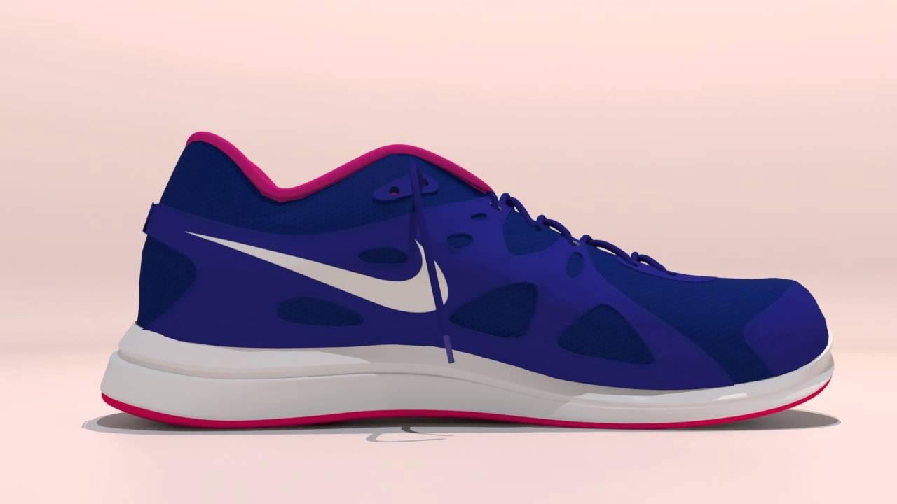 Zapatilla Nike Revolution 2 en 3d max
