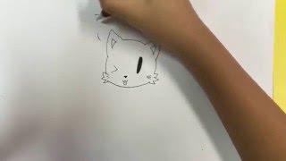 How to draw a Persian cartoon cat =)