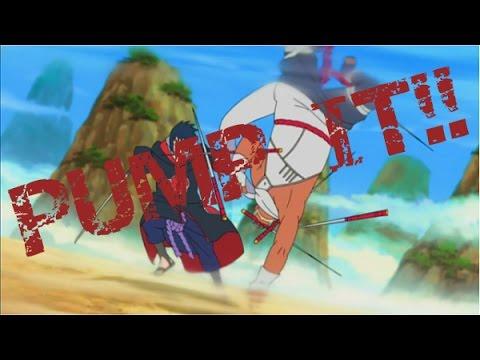 Sasuke Vs Killer Bee-【AMV】 - Pump It!