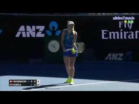 Caroline Wozniacki vs Johanna Konta Australian Open 2017 R3 Highlights