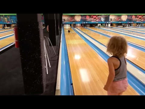 Toddler Bowls The Perfect Strike