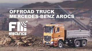 Realitstic AROCS MERCEDES BËNZ RC Control 3-Way TRUCK SCALE 1:14 HYDRAULIC LESU FM-ELECTRICS Tamiya