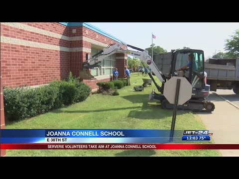 ServErie volunteers take aim at Joanna Connell School