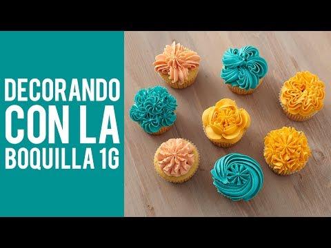 Cómo decorar cupcakes con la boquilla 1G