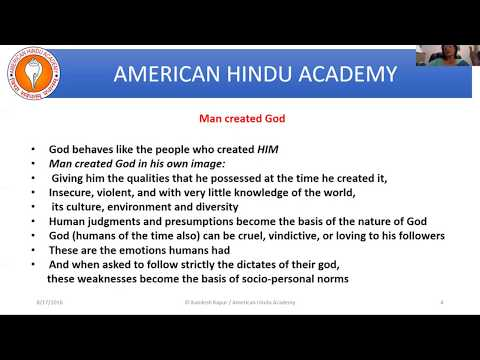 HHS 101. Introduction to Dharma - Lesson 7 (American Hindu Academy)
