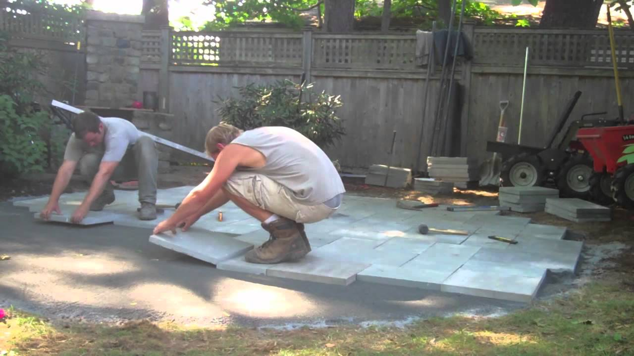 How to build a bluestone patio part two youtube solutioingenieria Images