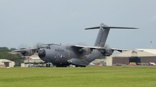Airbus A400M Atlas Grizzly from Airbus Industries flying at RIAT 2012 AirShow