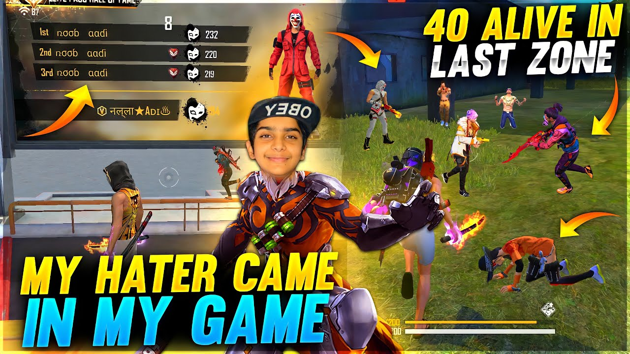 My Hater Came In My Game ❤️🤯 - 40 Alive In Last Zone Intense Moment - Garena Free Fire