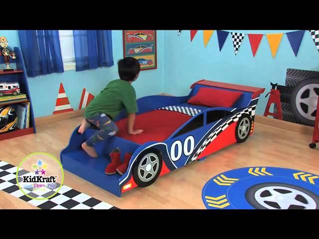 CAMA EN FORMA DE COCHE DE CARRERAS - Kidkraft 76038 www.tonytoys.net