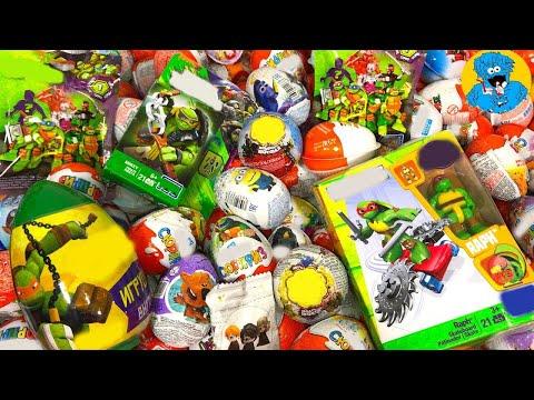 Киндер Сюрпризы,Candy and Kinder Surprise Eggs Черепашки Ниндзя TMNT,Ми-Ми Мишки,Гарри Потер