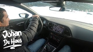How to DRIFT like a PRO on SNOW with a 300 hp SEAT Leon ST Cupra 4DRIVE I POV with Jordi Gené