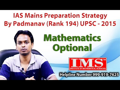 Strategy for maths optional in ias