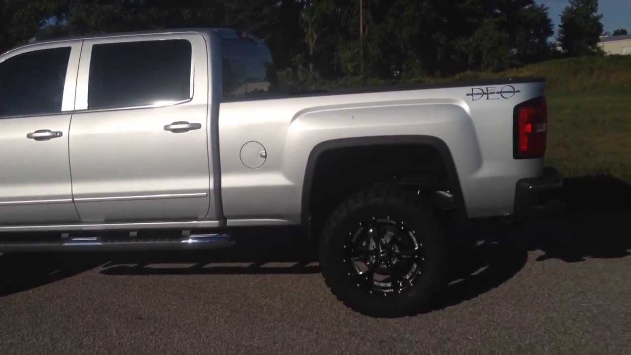 New Silver 2014 Gmc Sierra Lifted And Upfitted By Down