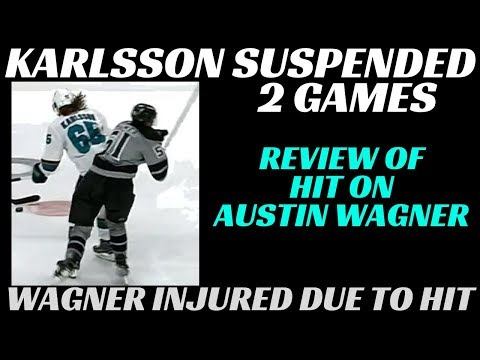 Erik Karlsson Suspended 2 Games - Review and Reaction to Hit