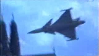 Fighter Jet Plane Crashes at Airshow Saab JAS 39 Gripen Aircraft Accident Fail at Stockholm Sweden