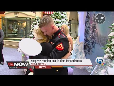 South Florida Marine surprises his wife just in time for Christmas
