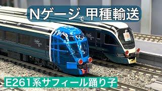 Nゲージで甲種輸送⑥ E261系サフィール踊り子【走行動画 鉄道模型】