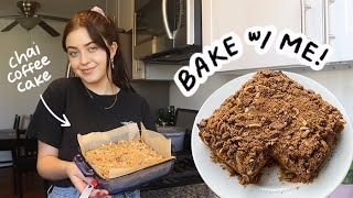 bake with me! chai-spiced vegan coffee cake