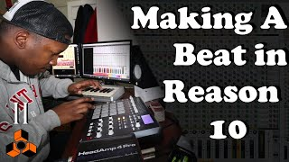 Making A HipHop Beat with Reason 10 | With MPD32 and Midi-Controller