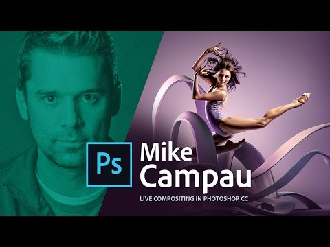 Compositing in Photoshop CC with 3D objects and Adobe Stock - Live with Mike Campau