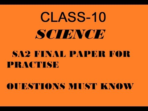 Sa Science Exam Sample Paper Class  Important Questions For