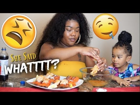 A Subscriber Came For Me | HILARIOUS First MUKBANG | 8 Lobster Tails: Messy Eating & Smacking Noises thumbnail