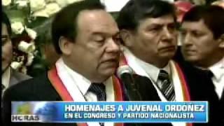 Homenajes a Juvenal Ordoñez