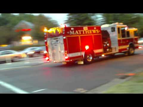 Fire Truck In Action (2)... (Matthews,NC)