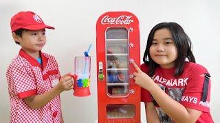 コーラ 自販機 ジュース屋さんごっこ遊び こうくんねみちゃん Coca Cola Coke Vending machine Juice shop