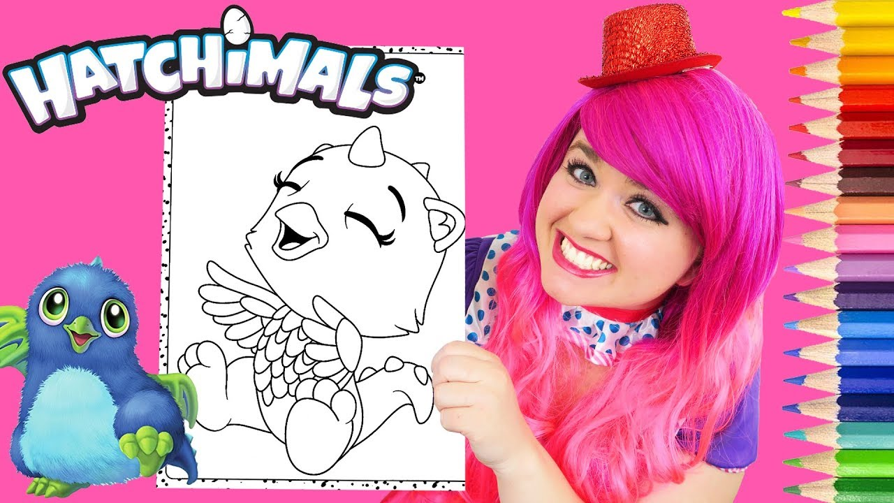 - Coloring Hatchimals Draggle CollEGGtibles Coloring Page