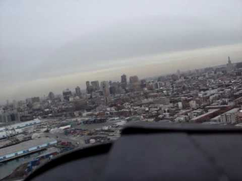 T-28 Flying over Red Hook, Brooklyn NY
