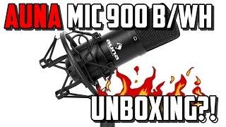 AUNA MIC 900 WH/B + POPSCHUTZ + MIKROARM UNBOXING GERMAN | TIMDY