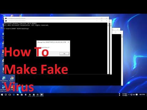 How to write a fake virus windows 7